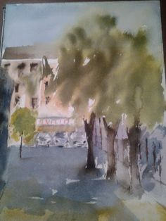 Pintar acuarelas: En mi barrio