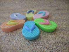 Flip Flop Soaps (2 pk)-Beach Bridal Shower Favor-Luau Summer Beach Party-Fun Birthday Party Soap-Baby Shower Gift Soap-Flip Flops Guest Soap by CindysBathCreations on Etsy