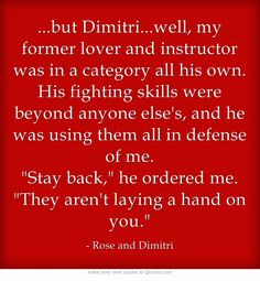 Bloodlines Quotes | Rose and Dimitri