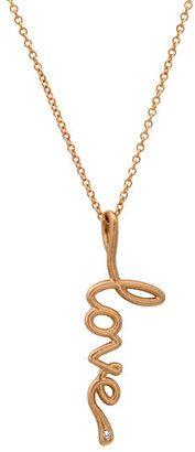 Avanessi Small Script Pendant Necklace