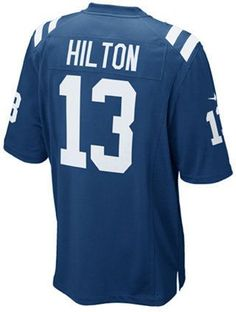 The men's Nike NFL Game jersey will be the only one you choose to wear while you cheer on your Indianapolis Colts. The jersey is inspired by what TY Hilton wears on the field and designed for movement and a light soft feel. V-neckline with TPU shield at collar Pullover style Short sleeves Screen print graphics Woven jock tag at hem Tailored fit Officially licensed NFL product Nike on-field apparel Polyester Machine washable