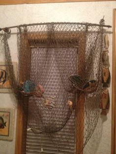 easy fishing net curtains bonniejones128 beach decor. Black Bedroom Furniture Sets. Home Design Ideas