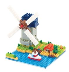 Nanoblock - Windmill - micro-sized construction set