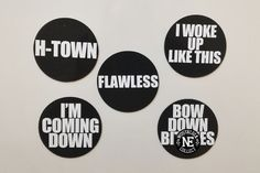Flawless  Beyonce 5 Piece Lyrical Magnet Sets: by NostalgiaCollect