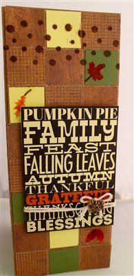 """Thanksgiving Card"" by Frances, as seen in the Club CK Idea Galleries. #scrapbook #scrapbooking #creatingkeepsakes"