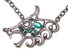Carolina Glamour Collection Celtic Wolf Pewter Unisex Necklace