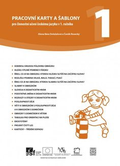 cj_karty_a_sablony_1roc__obalka Classroom, Activities, Reading, Children, School, Books, Logo, Ideas, Stones