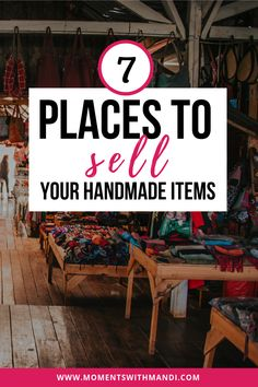 7 Places to Sell Your Handmade Items - Moments With Mandi Do you make candles, jewelry, clothing or other homemade/handmade items? You need this post! Here are 7 places you can sell your handmade items to make extra money! Diy Jewelry To Sell, Diy Crafts To Sell, Diy Crafts For Kids, Handmade Crafts, Sell Diy, Kids Diy, Creative Crafts, Selling Handmade Items, Selling On Ebay