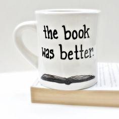 Divertido Mug taza de café taza de té Bookworm libro