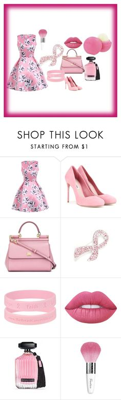 """""""I love flowers"""" by deyanafashion ❤ liked on Polyvore featuring Miu Miu, Dolce&Gabbana, Napier, Lime Crime, Victoria's Secret, Guerlain and Eos"""