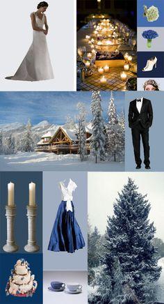 Snowflake Wedding Theme | blue themed winter wedding copy