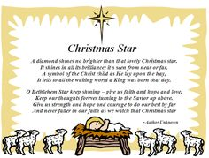 christmas poems about stars   Christmas Star