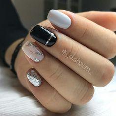 Pin on Nails Shellac, Gel Nails, Nail Polish, Nail Nail, Fall Nail Art Designs, Shattered Glass, Neutral Nails, Cute Acrylic Nails, Nail Inspo