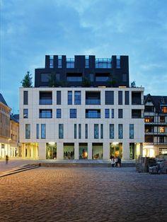 JeanPaul Viguier Architecture Projet Espace Claude Monet is part of Facade architecture - Architecture Résidentielle, Cultural Architecture, Education Architecture, Claude Monet, Facade Design, Exterior Design, Building Facade, Modern Buildings, Aarhus