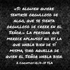 2 Corintios 10.17-18