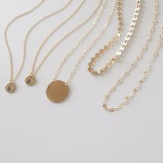 Gorgeous Made by Mary gold necklaces.