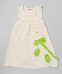Another great find on #zulily! Ivory Tree Tiered Dress - Toddler & Girls by Funkyberry #zulilyfinds