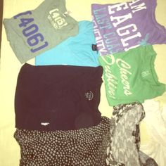 Casual tees and tanks; all brand names Casual tees and tanks from American Eagle, polo Ralph Lauren, J.Crew, Forever 21, Free people etc. can modify for buyer (add or drop; look at other listings w casual tees and tanks) Tops Tank Tops