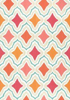 Impeccable Ikats, Cruising Wallpaper, Groovy Geometrics, Fabric Wallpaper, Powder Room Wallpaper, Cruising Thibaut