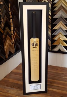 We've recently framed this cricket bat signed by the Surrey County Cricket Club in 1994 for the Alec Stewart Benefit.