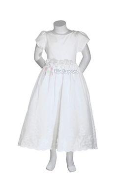 9331e0cd49824 Girl's French Eyelet Cotton Dress White or Ivory - Sale Price: Dress P,  Cotton