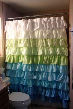 Fading Waterfall Shower Curtain by SelahJamesHandmade on Etsy, $150.00