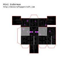 Papercraft Mini Enderman Minecraft Templates, Minecraft Mobs, Minecraft Blueprints, Minecraft Cake, Minecraft Crafts, Minecraft Designs, Minecraft Party, Funny Dog Jokes, Paper Cube