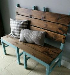 DIY Furniture Plans & Tutorials : Easy bench made from two old chairs awesome for a front porch or mudroom.