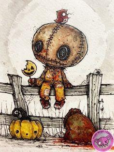 Gail's Gory Details: The Creepy Art of Mr. Revenge, Part One Emo Kunst, Gothic Kunst, Scary Drawings, Dark Art Drawings, Scary Halloween Drawings, Emo Art, Goth Art, Cartoon Kunst, Cartoon Art