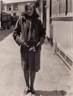Garbo. looks like the MGM lot.