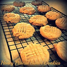 Honey and Peanut Butter Cookies
