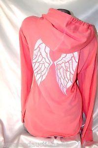 Large Victoria's Secret Angel Wing Hoodie Supermodel Essentials Tunic NWT   eBay