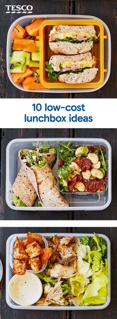 Skip the shops and pack your own lunchbox for an easy way to save the pennies. Start with a Greek salad wrap or easy pasta salad, then snack on homemade popcorn and juicy marinated pineapple. Vegetarian Recipes, Cooking Recipes, Healthy Recipes, Lunch On A Budget, Healthy Snacks, Healthy Eating, Tesco Real Food, Easy Pasta Salad, Lunch Box Recipes