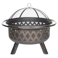 Buy Tesco Steel Round Lattice Fire Pit with Mesh Lid from our Firepits & Fireplaces range - Tesco.com