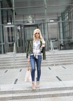 Plaid Tunic + Suede Jacket - Mckenna Bleu