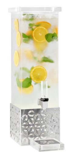 Serve juices, infused water and more in this sleek new Iris™ Beverage Dispenser from Rosseto. #buffetideas