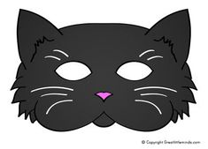 Make your own black cat mask, a free mask template to print, perfect for Halloween. Maske Halloween, Halloween Masks, Nativity Costumes, Face Template, Felt Mask, Cat Face Mask, Cat Crafts, Animal Crafts, Homemade Face Masks