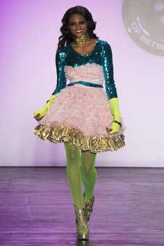 Betsey Johnson Spring 2016 Ready-to-Wear Fashion Show More proof that a long sleeve sequin shirt is a wardrobe essential