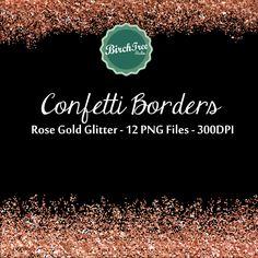 Digital Glitter Borders - Confetti Glitter Rose Gold Metallic Clipart - Invitation - Scrapbooking - Christmas Decoration - Paper - Border  #RoseGold, #rosegoldglitter, #rosegoldglitterborder, #Glitterborder, #glitterconfetti, #rosegoldborder, #rosegoldconfetti, #ConfettiBorder, #confettiTexture, #RoseGoldDigitalPaper, #RoseGoldGlitterBackgrounds, #RoseGoldGlitterClipart, #ConfettiBorderClipart, #RoseGoldBorder, #InstantDownload