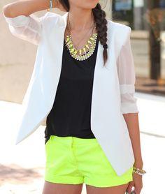 Black, white & neon