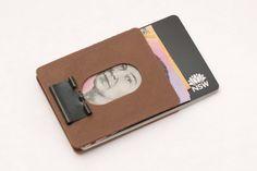 Slim Binder Clip Money Clip Wallet by edcpoop on Etsy