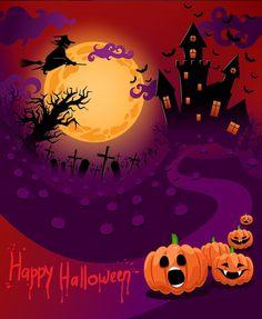 Fröhliches Halloween, Halloween Cards, Holidays Halloween, Vintage Halloween, Halloween Pumpkins, Castle Backdrop, Backdrop Stand, Muslin Backdrops, Custom Backdrops