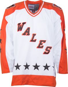 c0b78edec Wales Conference CCM Vintage 1983 White Replica NHL Hockey Jersey