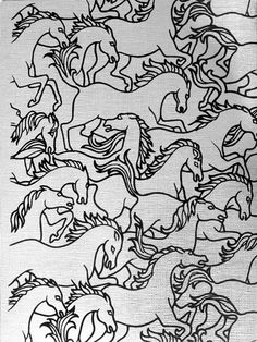 Horses Stampede wallpaper - Florence Broadhurst collection (Signature Prints).