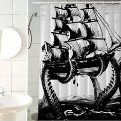 Hey, I found this really awesome Etsy listing at https://www.etsy.com/listing/248946709/giant-octopus-attack-shower-curtains