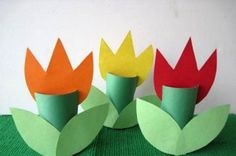 Preschool Crafts for Kids*: Spring Tulips Toilet Roll Craft Spring Crafts For Kids, Daycare Crafts, Sunday School Crafts, Easy Crafts For Kids, Summer Crafts, Toddler Crafts, Preschool Crafts, Easter Crafts, Holiday Crafts