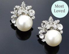 Press Loves The Carrie Wedding Earrings Are A Very Pretty Vintage Inspired Pearl And Crystal Stud Earring