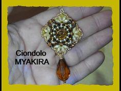 """Tutorial Ciondolo """"MyaKira"""" con perline e Swarovski - YouTube"""