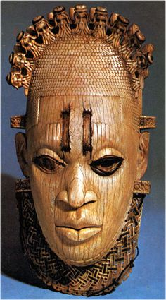 A Carved ivory mask-shaped hip-pendant representing the Queen Mother Idia, from the Benin Empire (in modern-day Nigeria). century CE, now on display at the British Museum African Masks, African Art, African Tattoo, African Sculptures, Night At The Museum, Yoruba, Art Premier, Afro, Black Artwork
