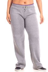 Plus Size Contrast Pipe Fleece Sweatpants